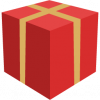 present icon - red and yellow